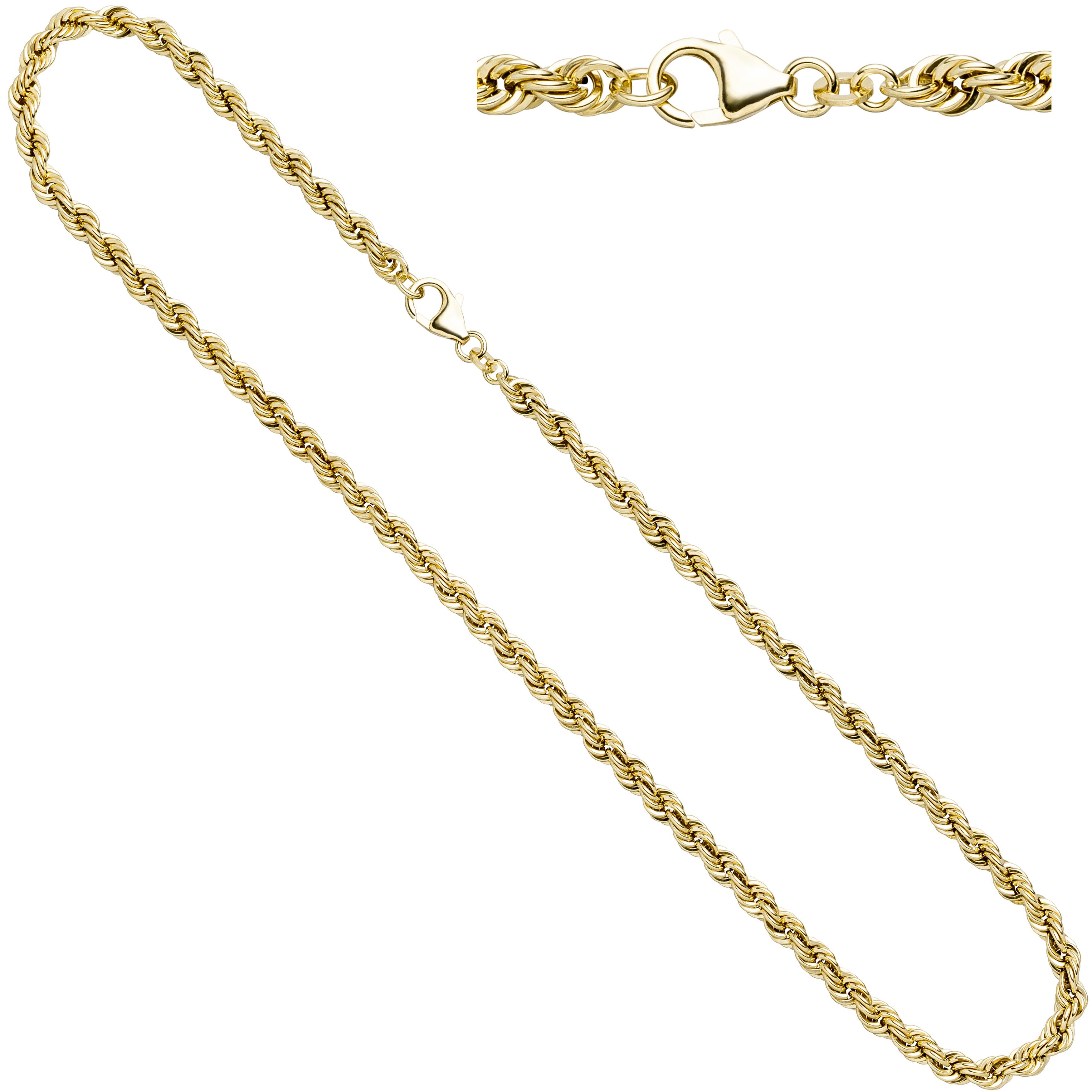 Kordelkette 585 Gelbgold 4,9 mm 80 cm Gold Kette Halskette Goldkette Karabiner.