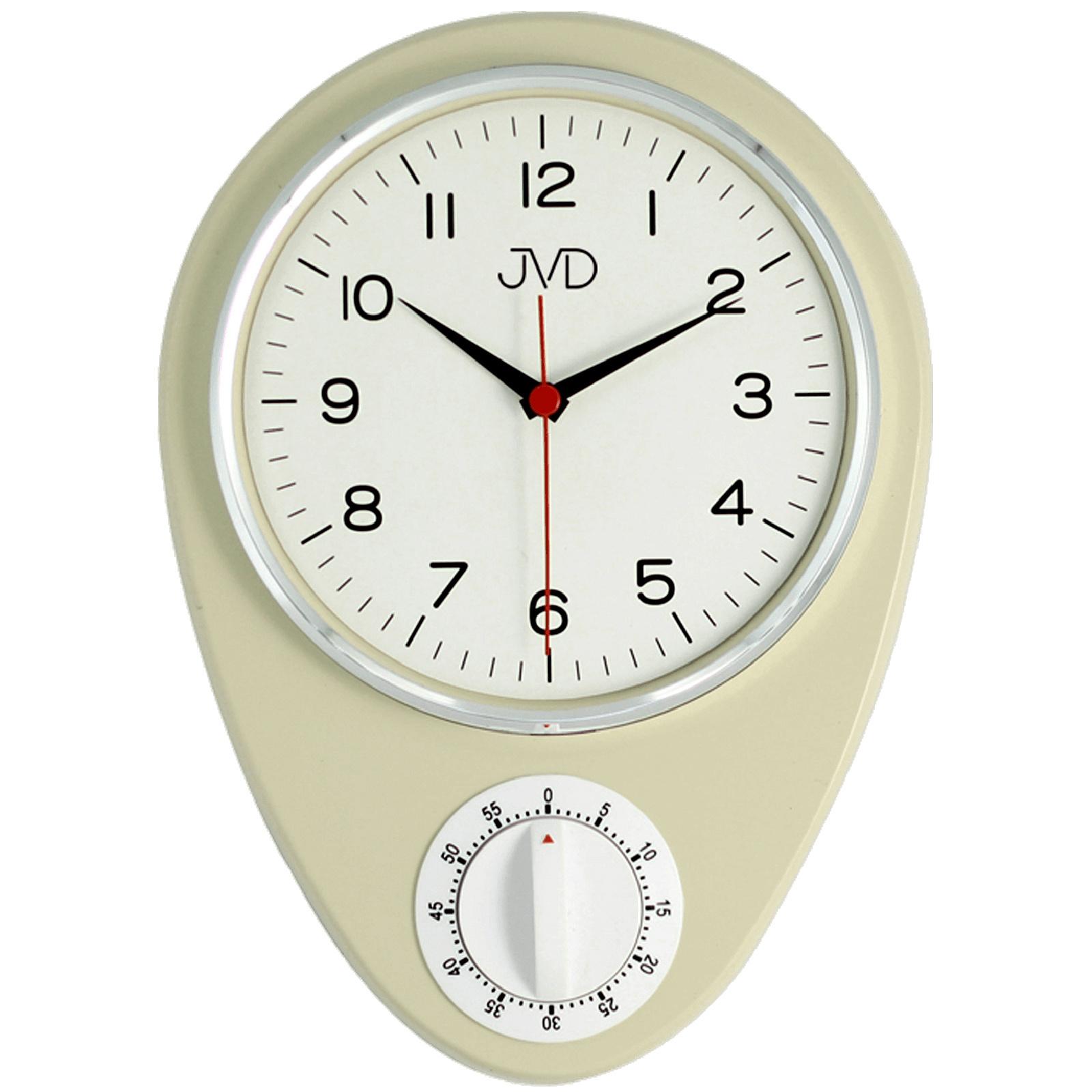 Jvd HO365.2 Orologio da Cucina Parete Quarzo Beige Cronometro Timer ...